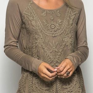 She and sky lace top